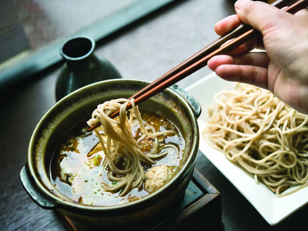 Soba noodles at Cocoron