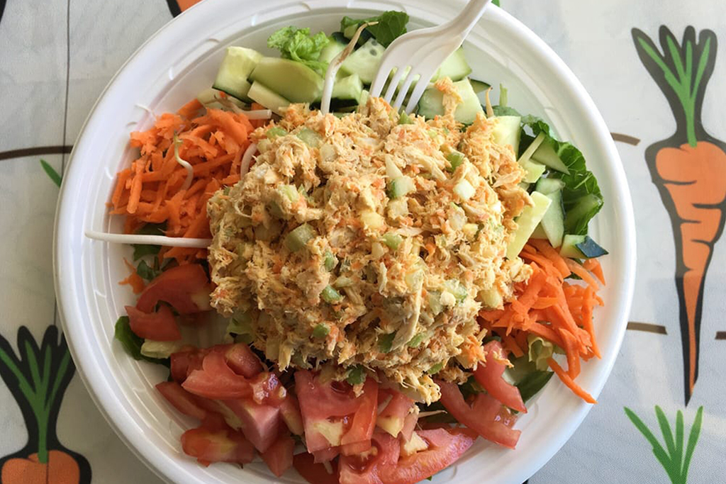 Chicken salad at Last Carrot