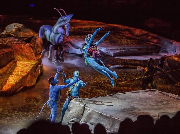A promo still from Cirque du Soleil's production, Toruk: The First Flight