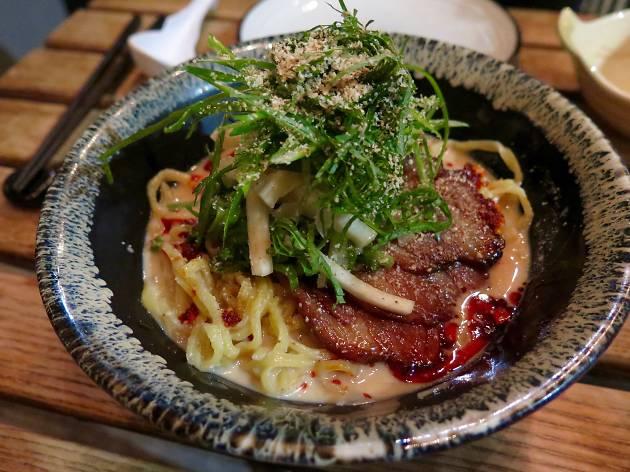 Chilled sesame temomi ramen at Shalom Japan
