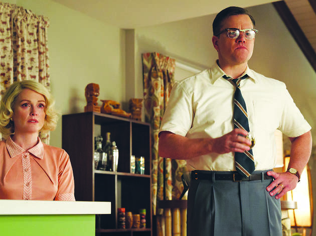 Suburbicon, Left to right: Julianne Moore as Margaret and Matt Damon as Gardner in SUBURBICON, from Paramount Pictures and Black Bear Pictures.
