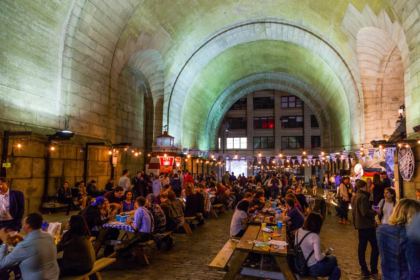 Celebrate Oktoberfest by getting drunk beneath the Manhattan Bridge