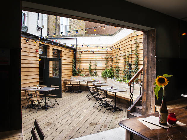 best beer gardens in london, the axe