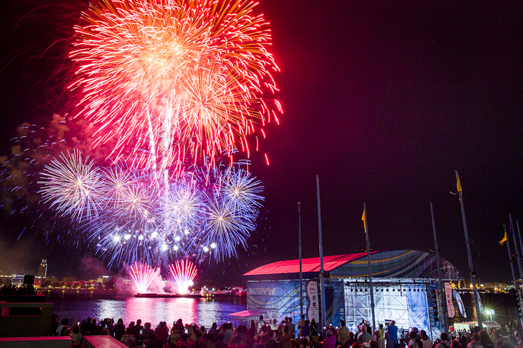 See fireworks over the waterfront