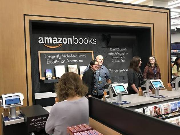 A new Amazon bookstore opened in Manhattan today