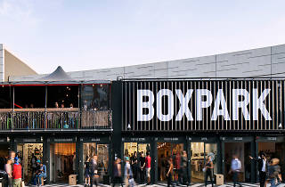 Boxpark pop-up Shoreditch shopping mall
