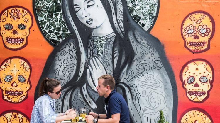 O mural do novo Mez Cais Lx