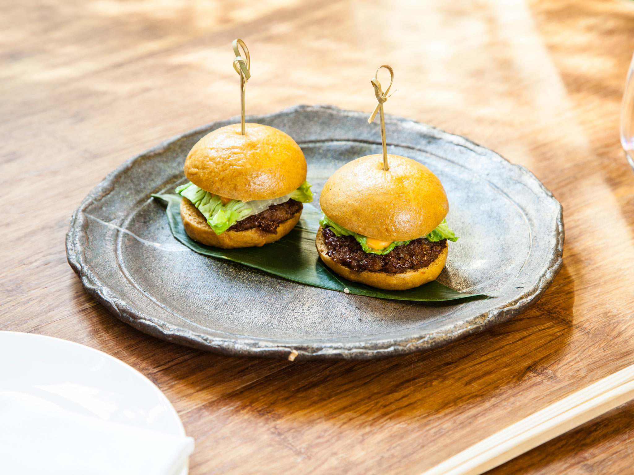 Wagyu beef burgers at Dinings SW3