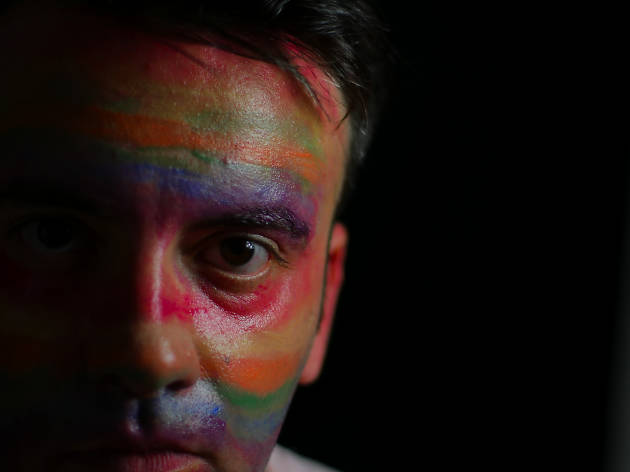 GAY BOY presented by TNC Dream Up Festival, New York, August 27 - September 17, 2017, directed by Ashley Wren Collins. JD Stewart, writer/performer. Photo by Jake Smith, 07/15/17.