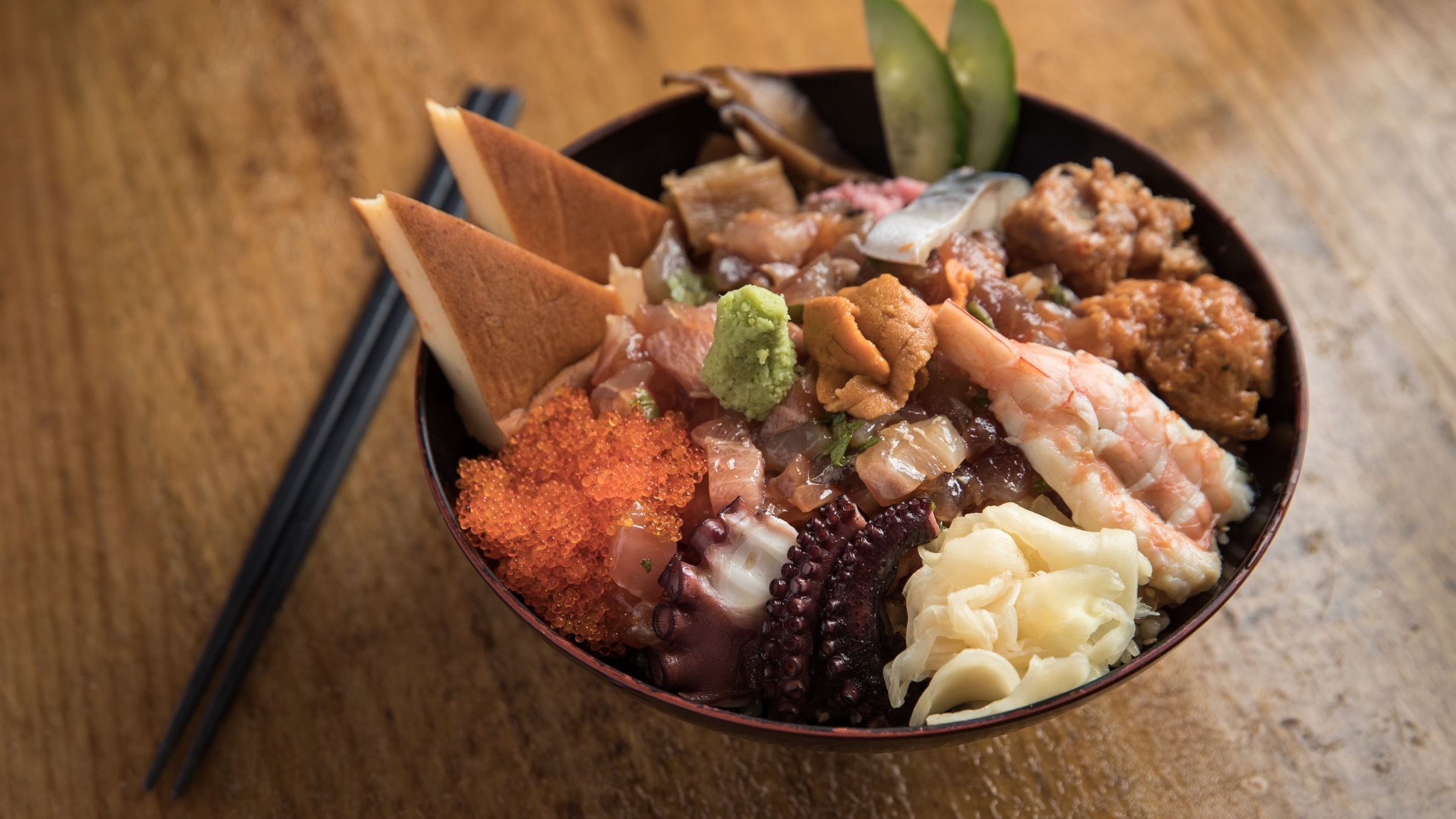 Seafood bowl at Hana Ju-Rin