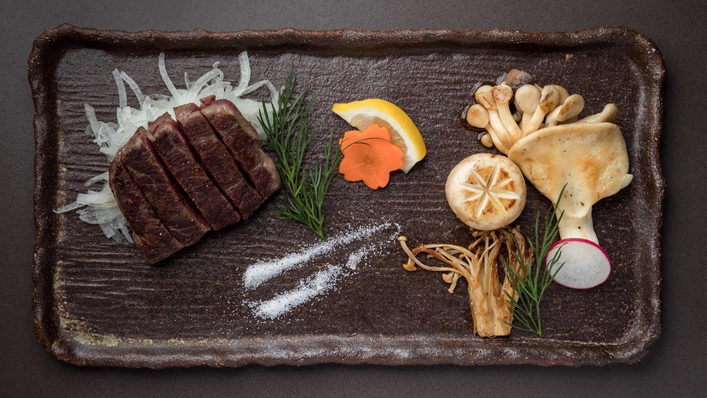 Steak and mushroom at Hana Ju-Rin