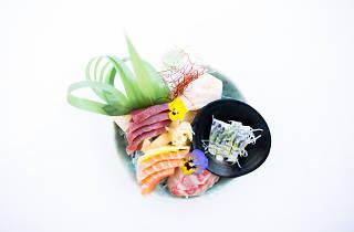 Sashimi de três peixes do Terra