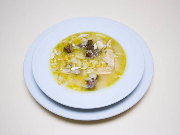 Restaurante, Cervejaria, Diu Palace, Canja de frango do campo