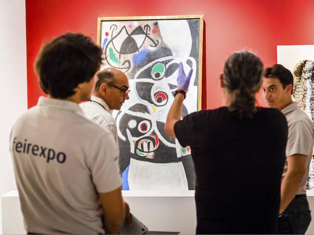 montagem expo miró (Fotografia: Francisco Santos)