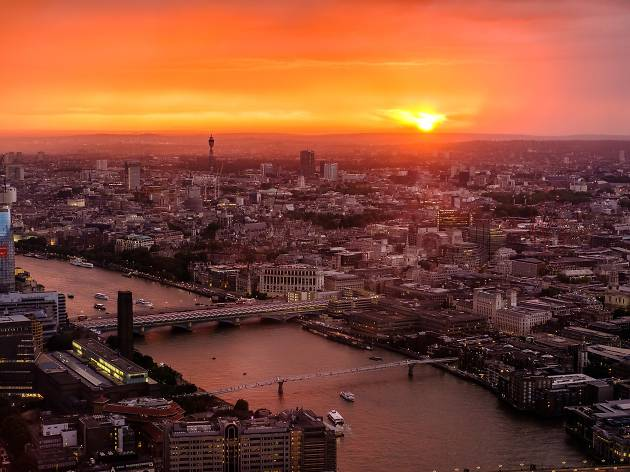 Sunset from The Shard, for use in Corona Aboveground campaign 2017, Creative Solutions