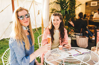 Women drinking at Taste of Melbourne
