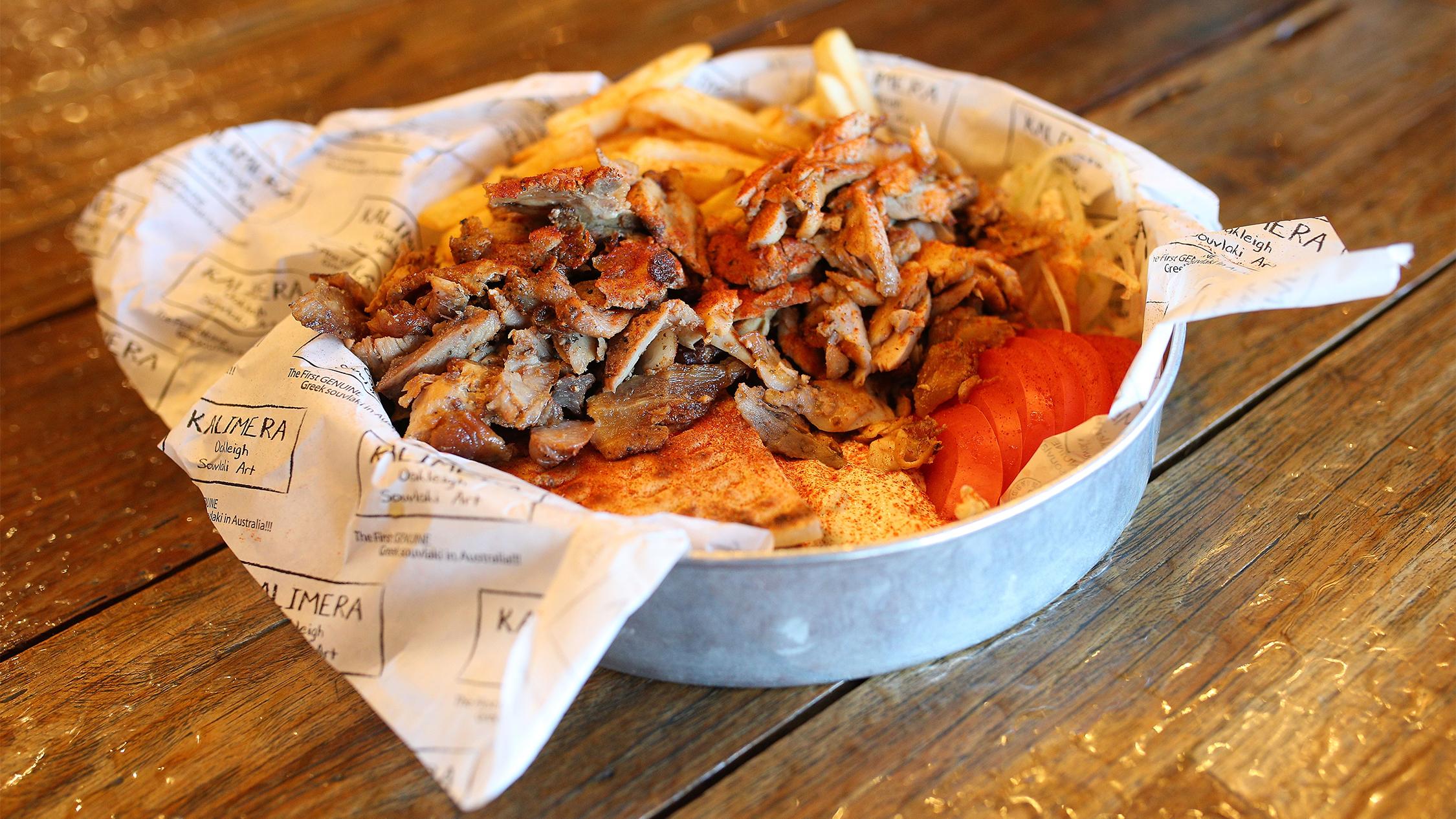 Souvlaki bowl at Kalimera Souvlaki Art
