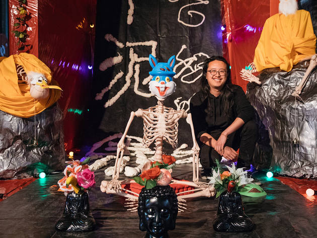 Sydney Contemporary art fair 2017 Carriageworks Sep 6 installation view 02 feat Jason Phu 2017 love in all its facets exists in hell chlamydia, gonorrhea and syphilis ring my bell (c) Time Out Sydney photographer credit Daniel Boud