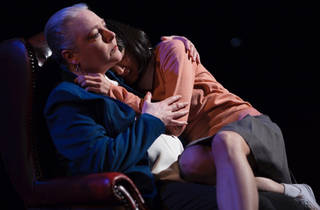 Big Heart 2017 Theatre Works production still 02 feat Andrea Swifte and Elmira Jurik photographer credit Pier Carthew