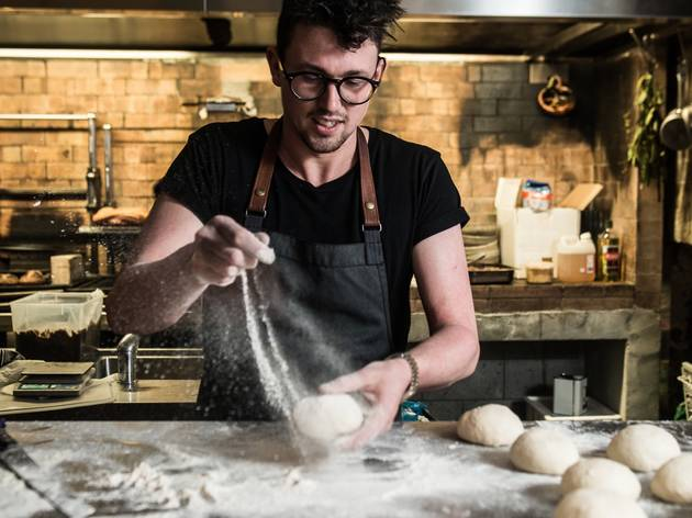 Charlie Carrington making bread at ATLAS