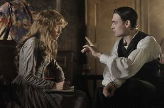 Olivia Cooke as Elizabeth Cree and Douglas Booth as Dan Leno in The Limehouse Golem, directed by Juan Carlos MedinaPhoto: Nicola Dove.Copyright: Lionsgate Films. All Rights Reserved.