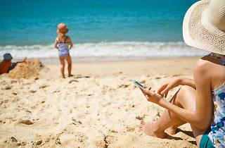 iPhone on beach