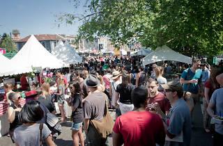 People at Newtown Good Food Fair