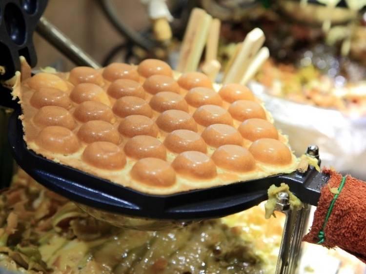 Hong Kong street food for breakfast