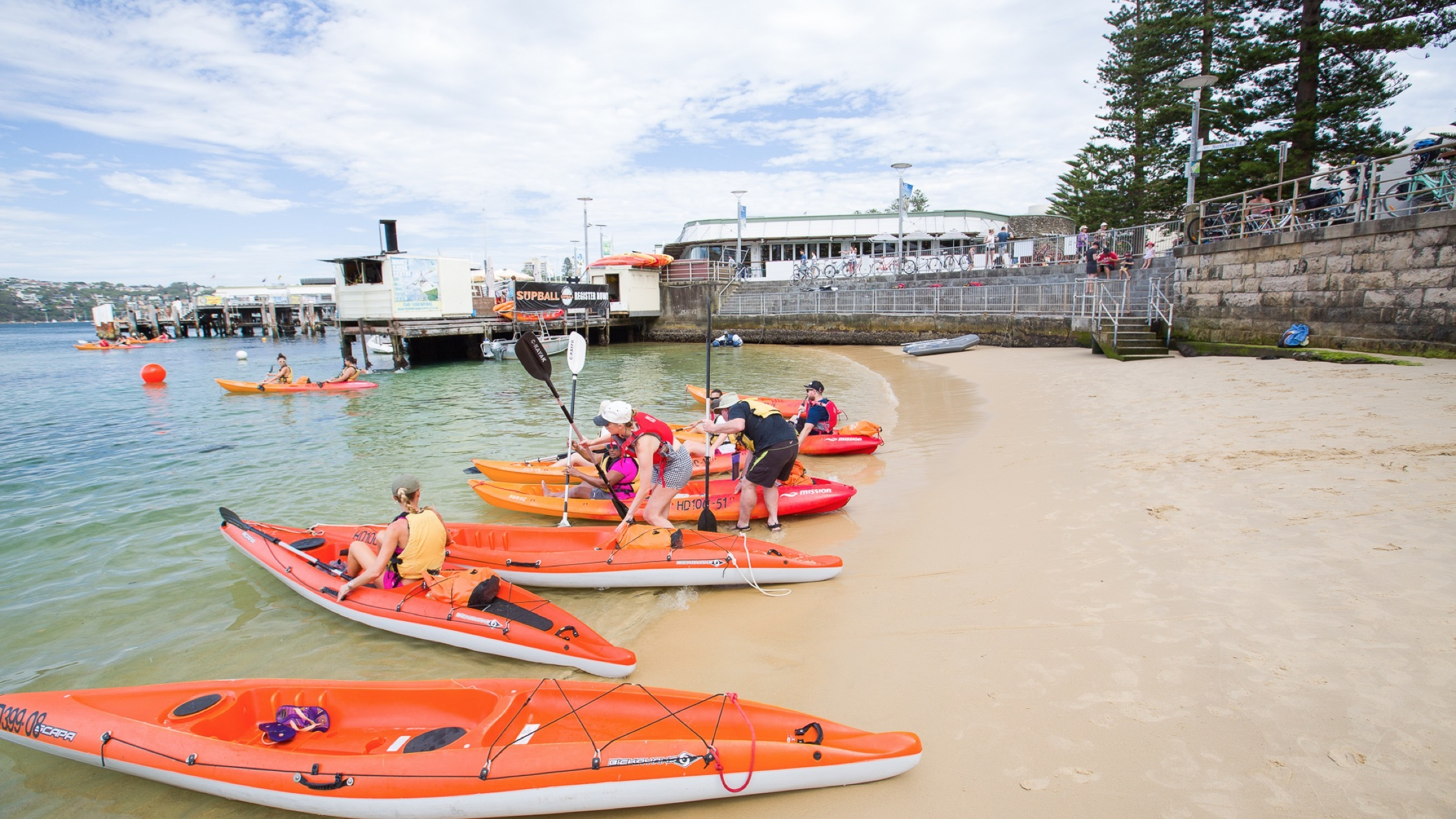 Kayak setup 2 at Manly Kayak Centre