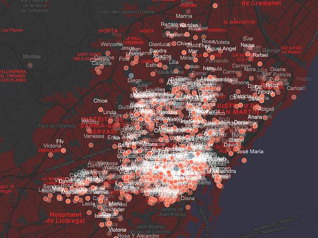 mapa airbnb