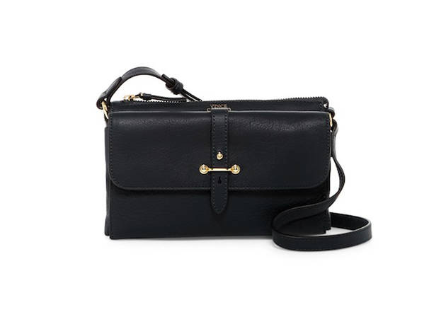 Vince Camuto Cass Leather Crossbody Bag