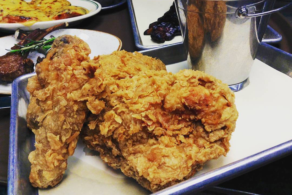 Joe's Stone Crab fried chicken