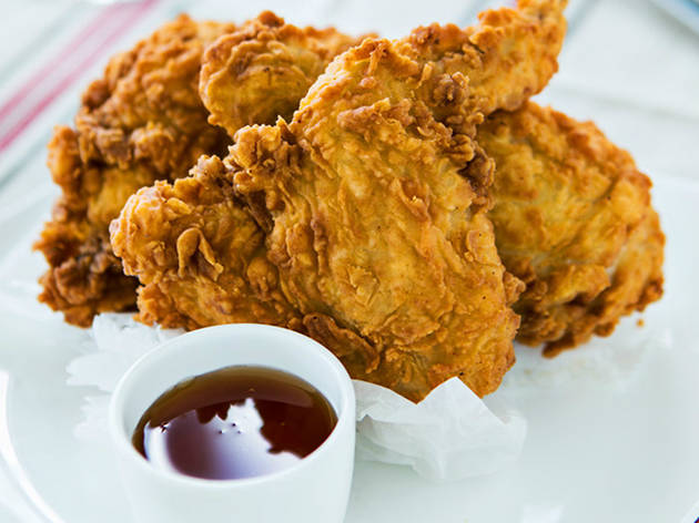 Michy's fried chicken at Sweet Liberty