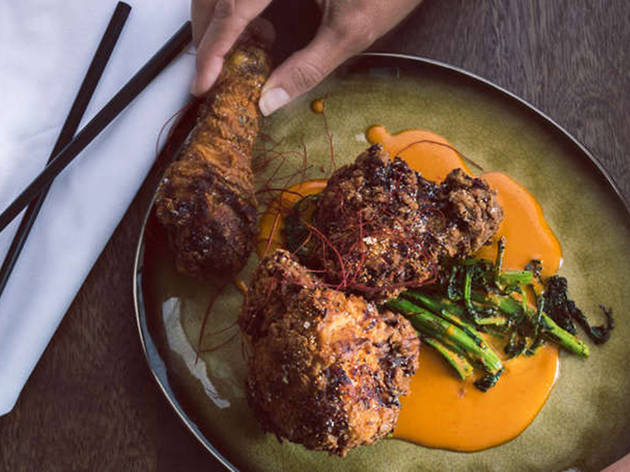 Korean fried chicken at KYU