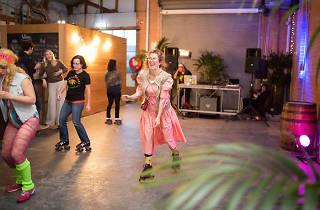 Moon Dog brewery roller disco