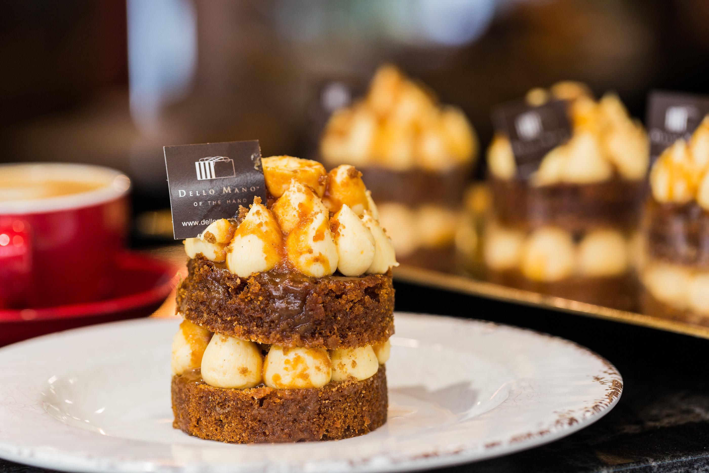 Golden Gaytime ode mudcake at Dello Mano