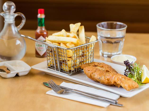 Fresh NT barramundi and chips at The Fishmonger's Wife