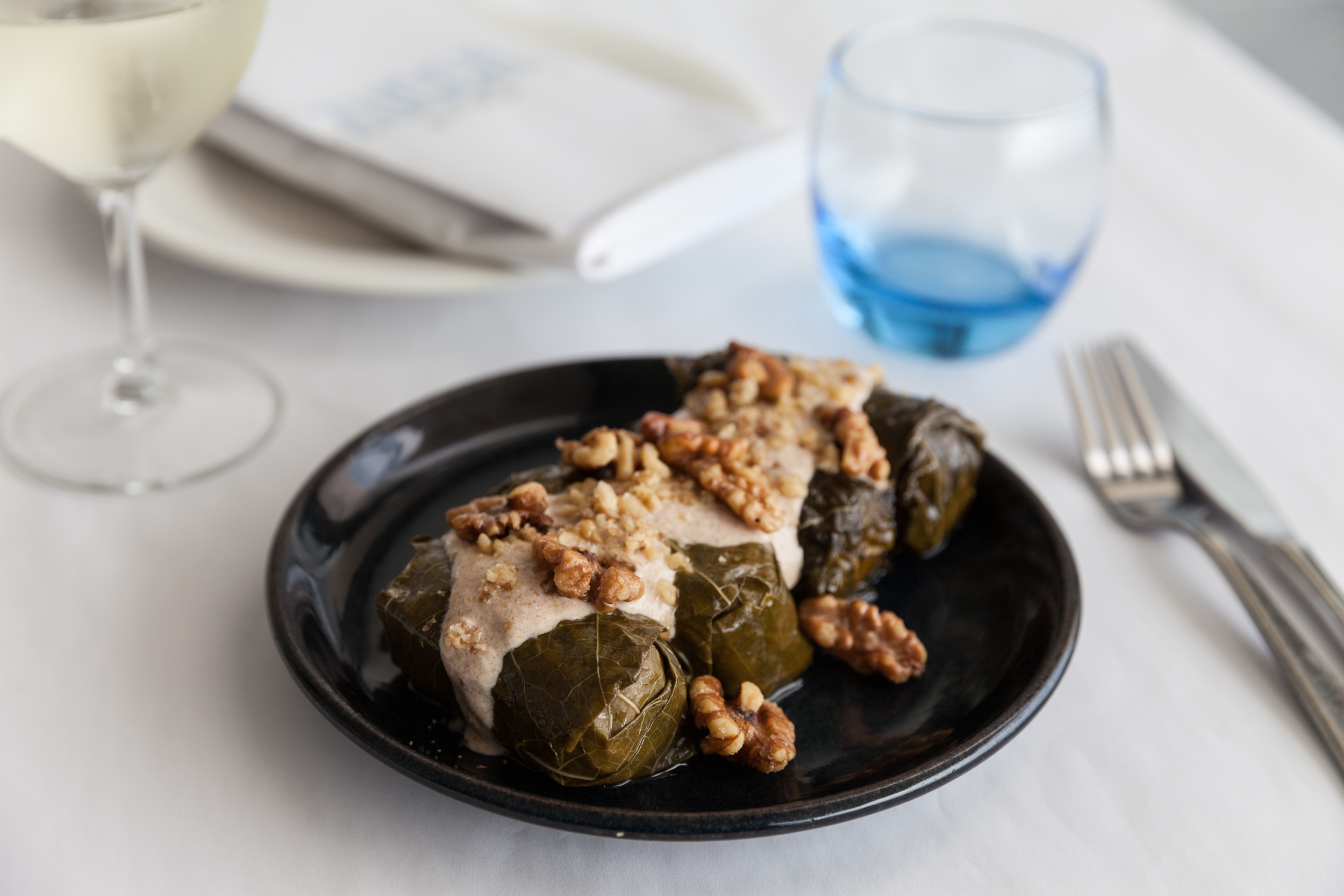 Vine dolmades at Zucca Greek Mezze