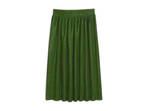 Monki AW17 green metallic skirt
