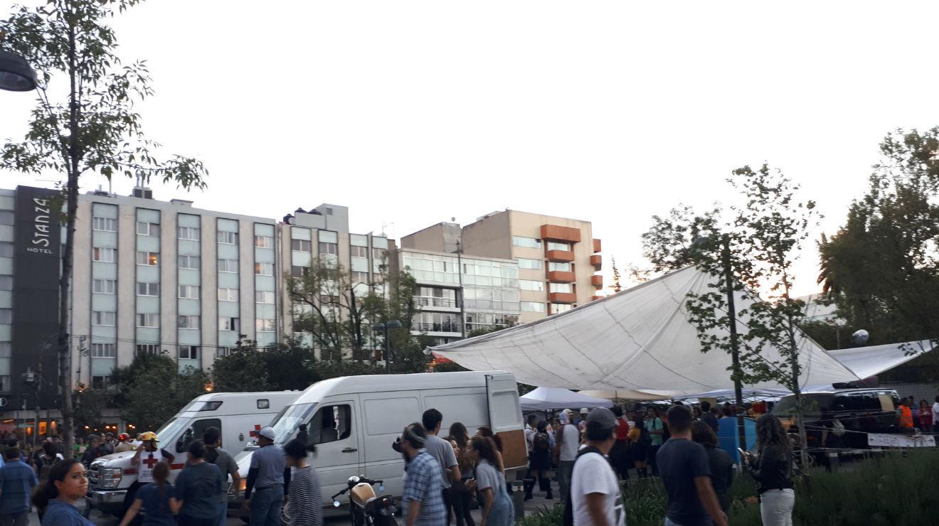 Albergues para damnificados tras el sismo en la CDMX