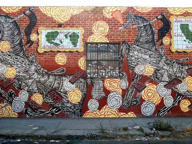 Spot street art and trendy boutiques in the Arts District