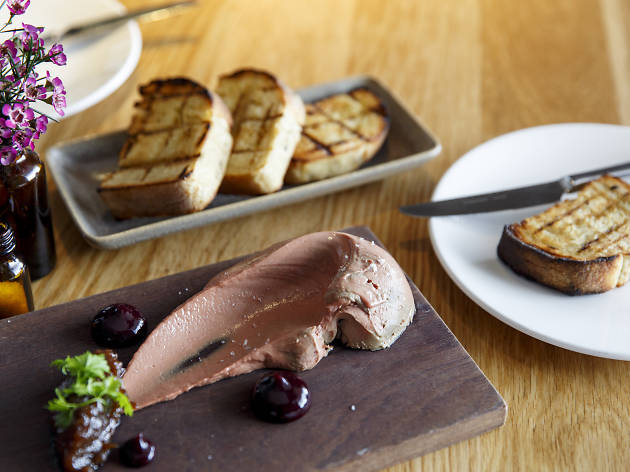 Chicken liver parfait and onion jam at Balthazar, $16