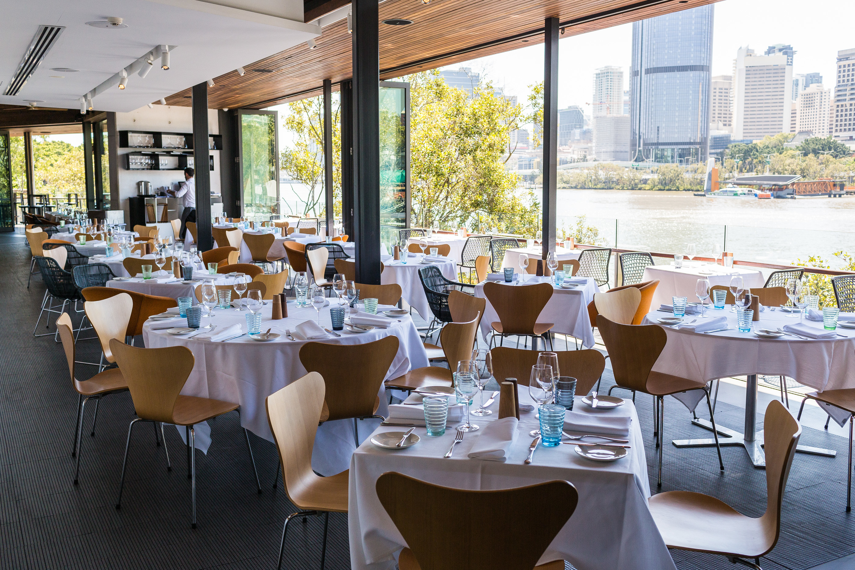 Enjoy beautiful views with your meal at Stokehouse Q