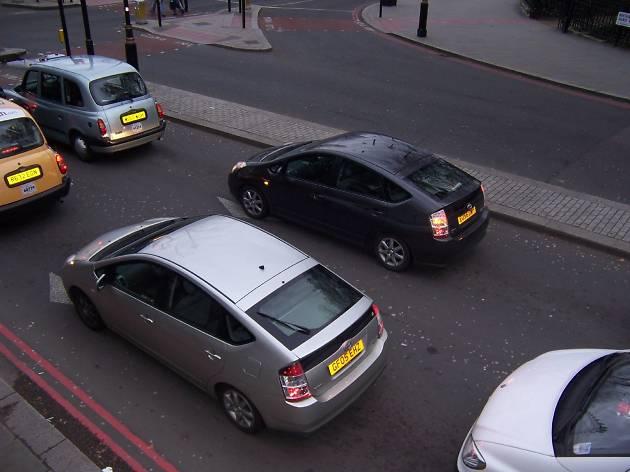 Prius cars in London