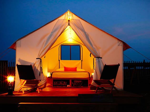 "You can now reserve spots to go ""glamping"" in the Rockaways"