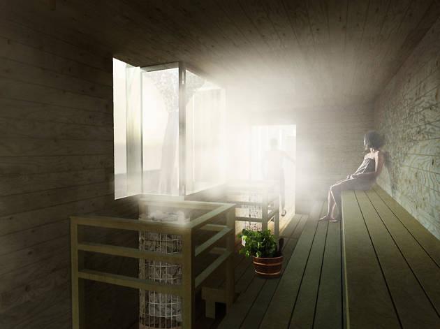 Finnish Rooftop Sauna