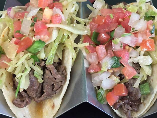 Fusion tacos at Komex Fusion