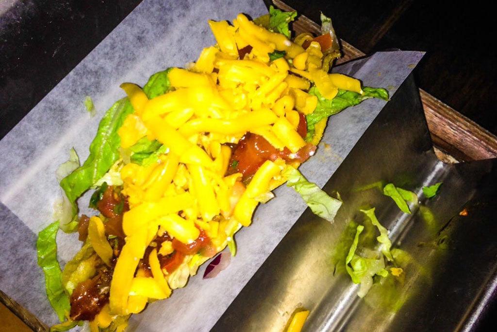 Crunchy tacos at Tacos & Beer