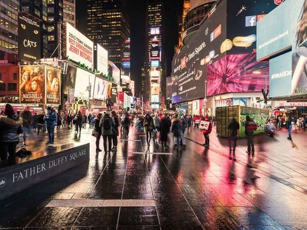 You can video chat with people from across the world in Times Square this fall