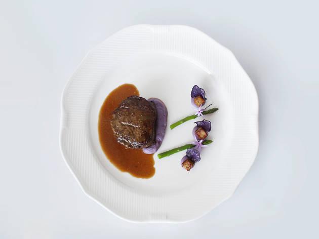 Black Angus, foie gras e batata vitelotte